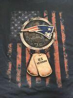 NFL New England Patriots U.S. Veterans Graphic T-Shirt Men's 2XL Blue