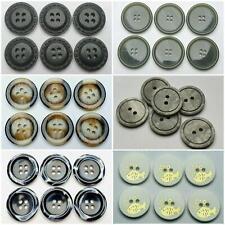 8 St Knöpfe Knopf Perlmutt Kunststoff 13mm Farbe Weiß 6 Beige Hohe Qualität