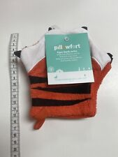 Target Brand 2pc Tiger Bath Mitts Orange/Black/White - Pillowfort