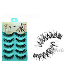 New 5 Pairs Natural Soft Eye Lashes Makeup Handmade Thick Fake False Eyelashes ^