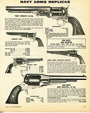 1976 Print Ad of Navy Arms Yank, Civilian New Model, Target & Army Revolver