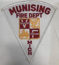 Munising FIre Department Michigan Shoulder Patch Volunteer Fireman New Triangle