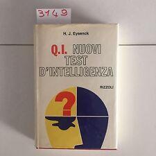 Q.I. nuovi test d'intelligenza di eysenck