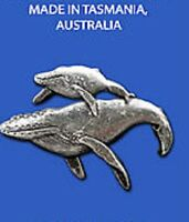 Whale and calf  Brooch 3D Pewter