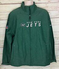 Men's NFL New York Jets On Field Green Lightweight Zip-Up Jacket Size L