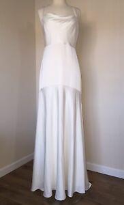 NEW JCREW $695 JILLIAN LONG WEDDING GOWN 6 IVORY LONG MAXI DRESS A9994