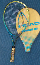 HEAD Andre Agassi 23 Tennis Racquet 3 5/8 Grip w/ RARE Yellow & Blue Zip Cover