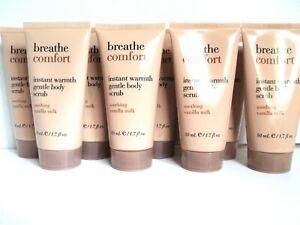 Bath Body Works Breathe COMFORT SOOTHING VANILLA MILK Body Scrub 1.7 oz, NEW x 8