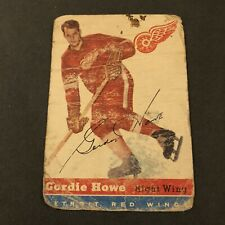 1954-55 Topps Hockey #8 Gordie Howe (offgrade-Authentic!) First Topps RC! HOF!