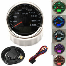 7 Colors LED Backlight 85mm GPS Speedometer Gauge Tuning LCD Odometer 200KM/H