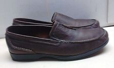 Clarks Men Brown Leather Loafer Moc Toe Comfort Driving Casual Dress Shoes 13 M