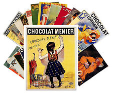 Postcards Pack [24 cards] Chocolate Vintage Ads Posters Art Deco Swiss CC1014