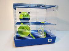 Penthouse Grande Azul Y Cal Jaula Animales Pequeños Hamster Jaula 2 pisos de 30 X 40 X 27
