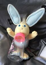 cabbage patch soft sculpture Boy Bunny Bee With Baby Bottle 1984