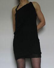 Leon Max Silk Little Black Draped Cocktail Dress - size L 12/14