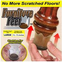 "Furniture Feet Flexible Floor Protectors 8 Pack  Large, Fits Legs 1 3/8 - 1 5/8"""