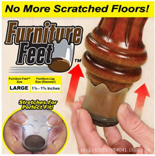 Furniture Feet Flexible Floor Protectors 8 Pack  Large, Fits Legs 1 3/8 - 1 5/8""