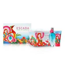 Escada Born In Paradise for Women 3 Piece Set 3.3 oz EDT + 5 oz Lotion + Pouch