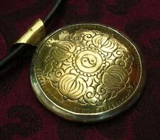 Beau Argent Bouddha-Amulette du Népal Yin Yang & Dorje