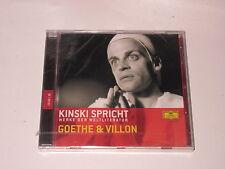 CD/SEALED NEU NEW/DG 060249800386/KINSKI SPRICHT/GOETHE & VILLON