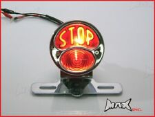 Chrome Brake Stop Tail Light Chopper Bobber Custom Scrambler Cafe Racer