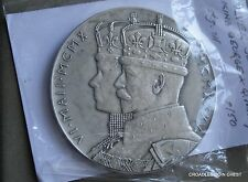 1935 CORONATION JUBILEE OFFICIAL SILVER MEDAL GEORGE V 57mm NO CASE #QKZ90