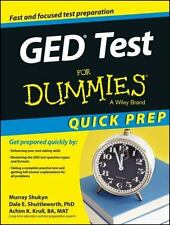 GED Test for Dummies, Quick Prep (Paperback or Softback)