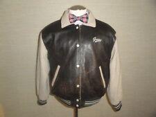 Men's Vtg Leather & Wool GUESS Flight/Bomber Motorcycle Biker Rider Jackets Sz-M