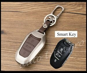 3 Button Key Shell Box Bag Case Fob Cover Trim For Peugeot 2008 301 308s 408 508