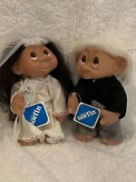"Vintage Troll Norfin Doll #604 Thomas Dam 1977 Doll 8"" White Hair Groom EUC"