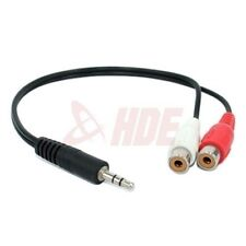 3.5mm 1/8 Stereo Male to Dual Female Left Right Audio Y Cable RCA Jack Adapter
