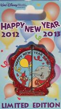 DISNEY WDW HAPPY NEW YEAR 2012 / 2013 DUMBO & TIMOTHY MOUSE HINGED LE 3000 PIN