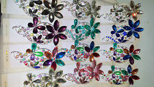 Joblot 12 pcs Flower Design Diamante hairclips hairgrips NEW wholesale lot 2