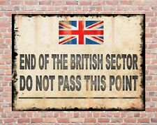 END OF THE BRITISH SECTOR CHECKPOINT CHARLIE COLD WAR METAL PLAQUE SIGN 1334