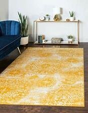 Unique Loom Sofia Collection Traditional Vintage Area Rug 9' x 12' Yellow/Ivory