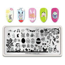 Nail Art Stamping Plate Image Decoration Easter Bunny Rabbits Chicks Eggs BPL005