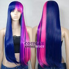 0.8m Twilight sparkle My Little Pony Straight- Friendship is Magic Cosplay Wigs