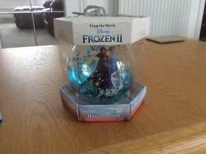 Disney Frozen 2 Christmas Hanging GlitterDecoration Bauble Xmas Gift NEW Primark