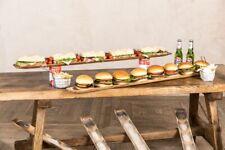 More details for wooden industrial serving platter / serving tray / breadstick holder for tapas