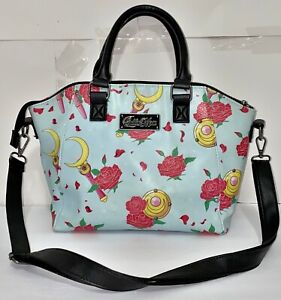LOUNGEFLY SAILOR MOON MAGICAL TRANSFORMATION GADGETS AND ROSES SATCHEL BAG