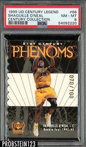1999 UD Century Legend Die-Cut 21st Century Phenom Shaquille O'Neal /100 PSA 8