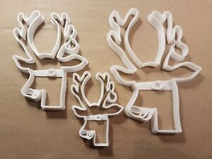 Rudolf Reindeer Bauble Christmas Shape Cookie Cutter Dough Biscuit Fondant Stamp