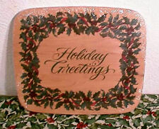 LONGABERGER HOLIDAY GREETINGS CARD KEEPER LID-NEW- LAST ONE ! -SHOP STORE TODAY