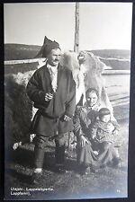FINLAND ~ 1930's UTSJOKI ~ Lappalaisperhe ~ LAPLAND FAMILY ~ Real Photo PC  RPPC