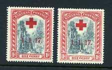 """Bahamas 1917 Croix Rouge - Long Temps To """" 7 """" Défaut Sg 90a Excellent État"""
