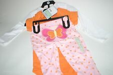 Carter's 3pc I'm Full of Love Layette Outfit Set 18 m Orange Pink Butterflies