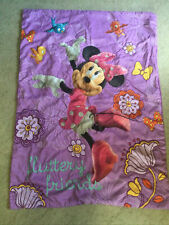 Minnie Mouse Toddler Bedding Comforter Fluttery Friends Purple Crib Blanket