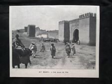In Marocco - Le mura di Fez Stampa del 1905
