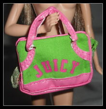 PURSE BARBIE DOLL MODEL MUSE JUICY COUTURE DOG BAG CARRIER ACCESSORY DIORAMA
