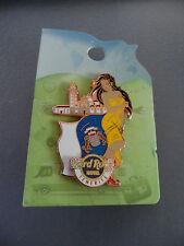 HARD ROCK CAFE TENERIFE HOTEL - FLAG & LANDMARK - HRC GIRL SERIES PIN on CARD